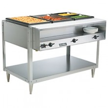 3 Opening ServeWell® High Wattage Hot Food Table W/Cutting Board and Plate Shelf
