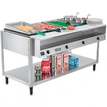 4 Opening ServeWell® High Wattage Hot Food Table W/Cutting Board and Plate Shelf