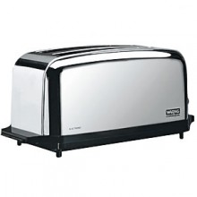 "18 1/2"" W x 8 1/2"" D x 8 1/2"" H Two Slice Commercial Toaster"