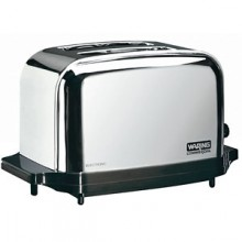 "13 1/2"" W x 8 1/2"" D x 8 1/2"" H Two Slice Commercial Toaster"