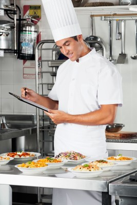 Chef Inspecting the Kitchen